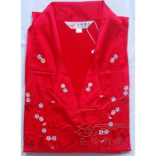 大红色女式睡衣