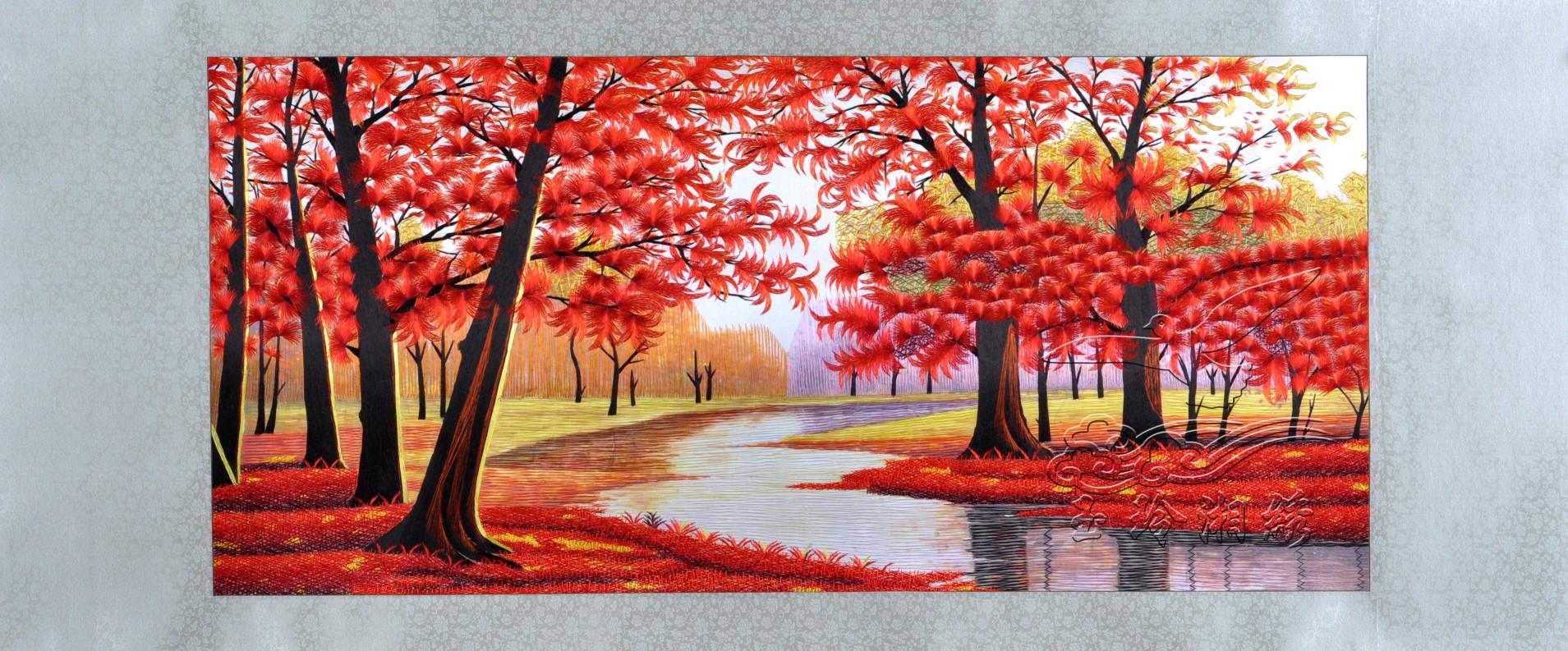 红枫手绘马克笔